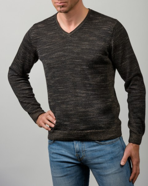 Men's V-Neck Sweater schwarz