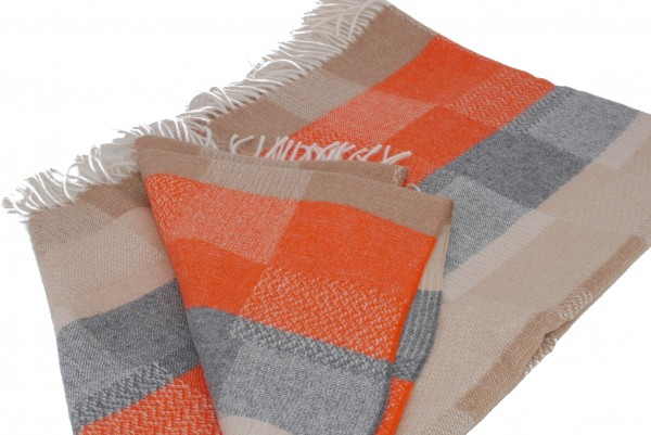 Baby Premium Classic Throw beige-orange